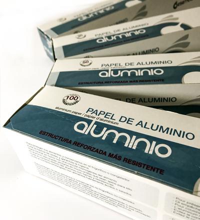 Bobinas de aluminio y PE